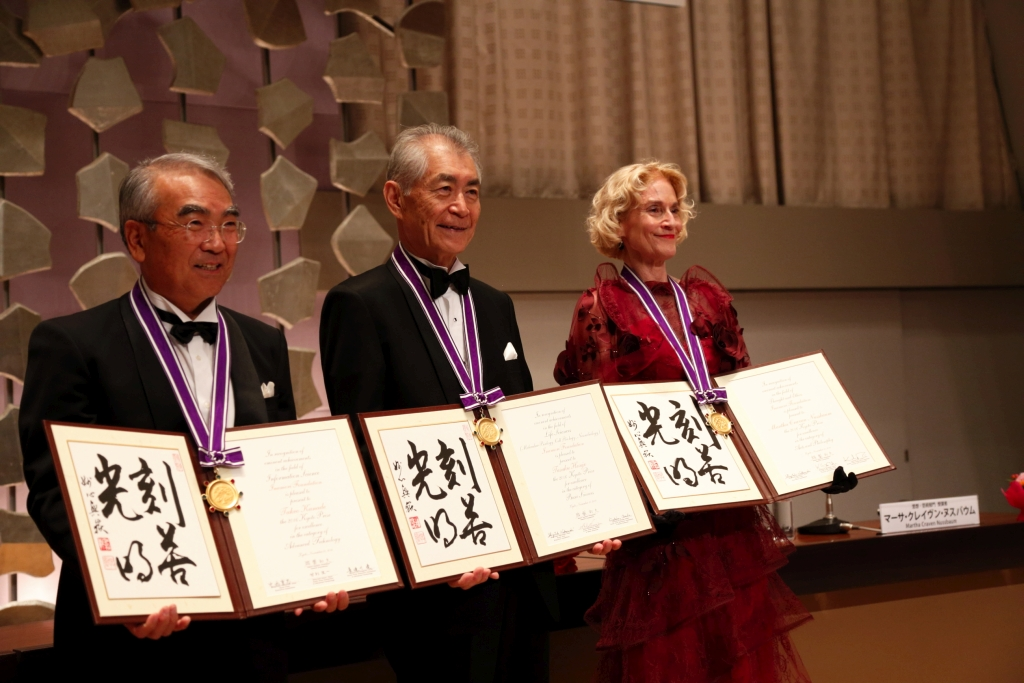 The three laureates of the Kyoto Prize 2016