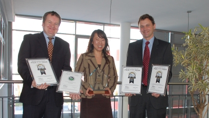 Mr. Sweetman (BLI), Mrs. Owada (KYOCERA), Mr. Donelly (BLI)
