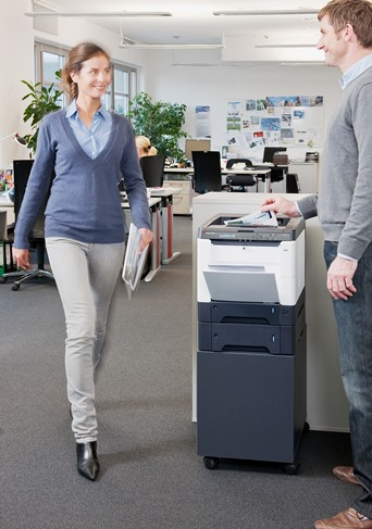 KYOCERA A4 colour printer in office use