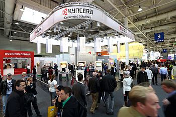 Cebit exhibition 2014 - Kyocera booth